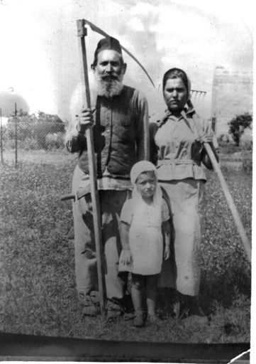 שפרה ווזניצה עם דודתה וסבה שמואל-יוסף